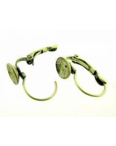 Oorbelhaakje scharnier en kuipje 8 mm 4 st antiek goud