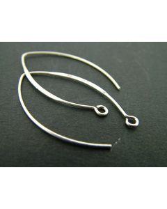 Oorhaak ellips 37 mm 4 stuks antiek zilver