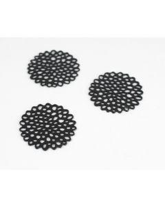 Filigraan rondje 3 stuks zwart