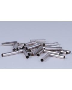 Buisje 2 x 10 mm 30 stuks antiek zilver
