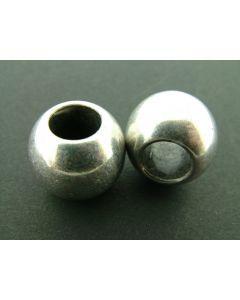 Kraal acryl 20 x 18 mm 4 stuks antiek zilver