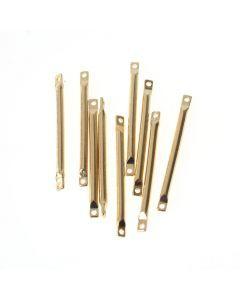 Tussenstuk staafje 25 x 1,5 mm 10 stuks goud