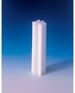 Kaarsvorm 6-hoekige ster 5,5 x 20 cm