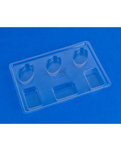 Gietvorm voor zeep 3x ovaal/rechthoek