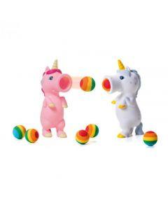 Plopper eenhoorn met 6 ballen (roze of wit)