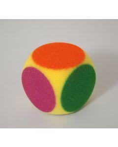 Dobbelsteen foam 7 cm 6-kleuren
