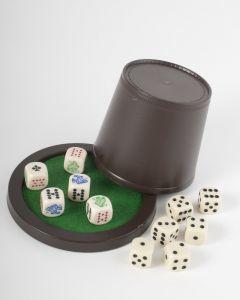 Pokerset: beker met 5 + 6 stenen