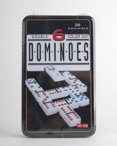 Domino dubbel 6 in blik