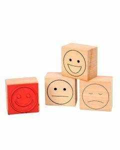 Stempelset emoticons 'smiley' voor evaluatie 4 stuks