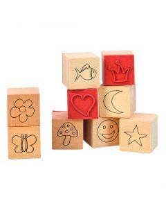 Stempelset symbolen 9 stuks van 1,5 cm