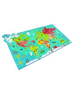 Puzzel wereldkaart 6+ 150 stuks 91 x 48,5 cm