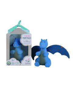 Tikiri draakje Midnight met blauwe vleugels 13 cm