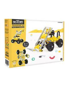 Offbits superchallenge 3-in-1 voertuigset geel