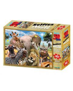 3D-puzzel 63 stuks Selfie Afrika 4+