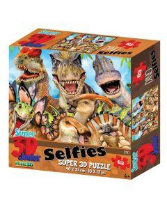 3D-puzzel 63 stuks Selfie dino 4+