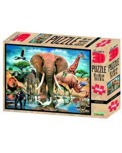 3D-puzzel 500 stuks Afrikaanse oase 6+