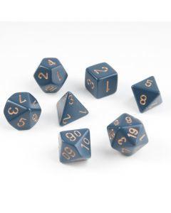 Dobbelsteenset veelhoek donkerblauw 7 stuks