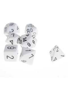 Dobbelsteenset veelhoek wit 7 stuks