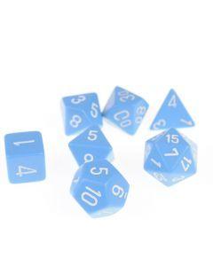 Dobbelsteenset veelhoek lichtblauw 7 stuks