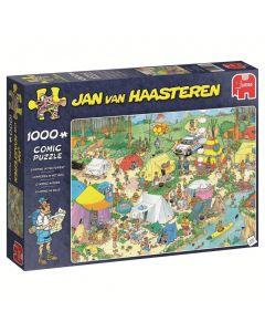 Puzzel Jan van Haasteren - Kamperen in het bos 1000 stukjes