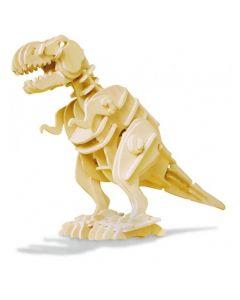 Walking T-Rex - dino in hout met beweging en geluid