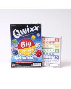 Qwixx Big Points scoreblok 2 stuks van 80 blaadjes