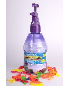 Waterballonvuller met neon waterbommen