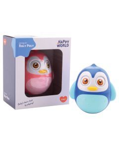Happy World Roly Poly pinguïn roze of blauw