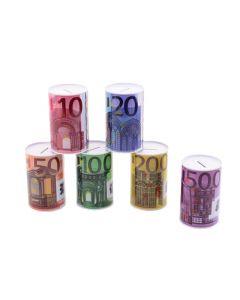 Schenkspeelgoed - Metalen spaarpot eurobiljet