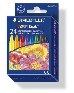 Staedtler Noris waskrijtjes assortiment kleuren 24 stuks