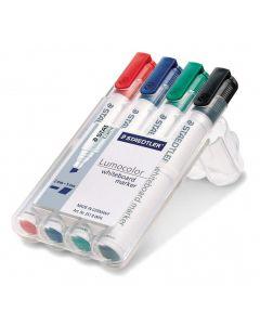Whiteboard marker schuine punt rood-blauw-groen-zwart