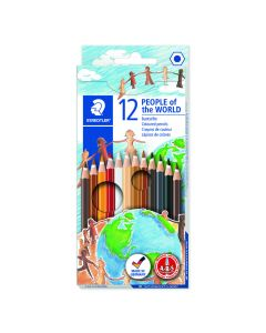 Staedtler set potloden 12 st. People Of The World