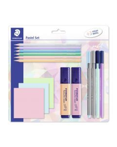 Pastel set 12 stuks + 3 sticky notes