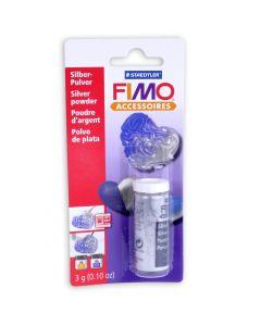 Fimo metallic poeder 10 g zilver