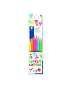 Staedtler Ergosoft kleurpotloden 6 stuks neon
