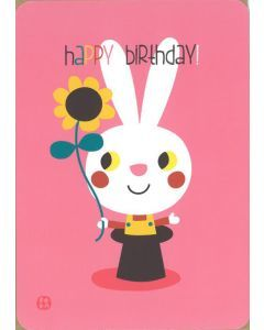 Postkaart met omslag Birthday - Bunny