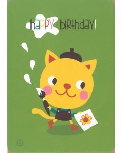 Postkaart met omslag Birthday - Cat