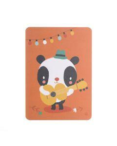Postkaart Guitar Panda