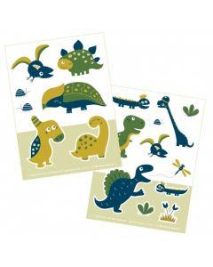 Bora stickers 2 x A6 Dinosaur