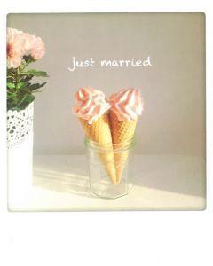 Postkaart - Just Married