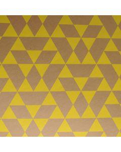 Inpak- en knutselpapier 50 x 70 cm Kelly Hyatt kaki/geel