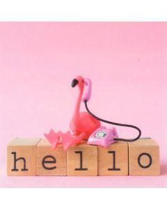 Wenskaart - Flamingo Hello