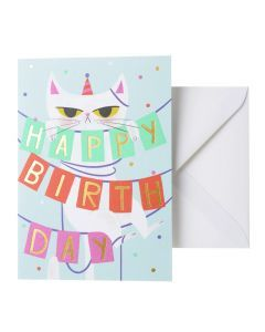 Wenskaart - Birthday Cat