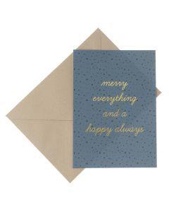 Wenskaart - Merry everything