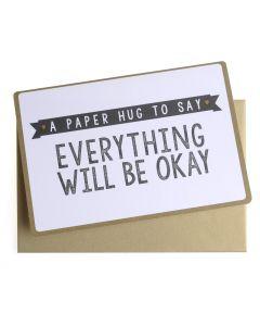 Wenskaart - A Paper Hug