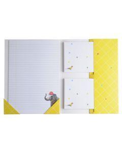 Briefpapier 15 stuks + enveloppen 10 stuks Olifant