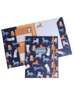 Briefpapier set 15 vellen + 10 enveloppen Kat