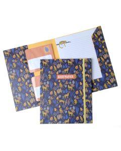 Briefpapier set 15 vellen + 10 enveloppen Tijger