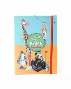 Briefpapier Groetjes van op kamp - Coole dieren