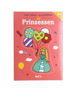 4+ Mijn kleur- en prikblok - Prinsessen